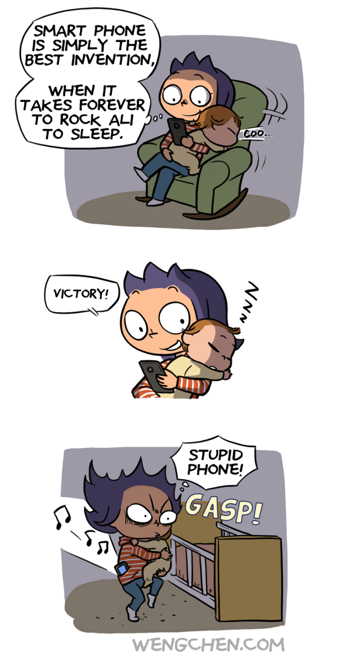 puttingbabytosleepphone